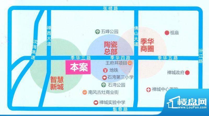 联诚·智博E区交通图