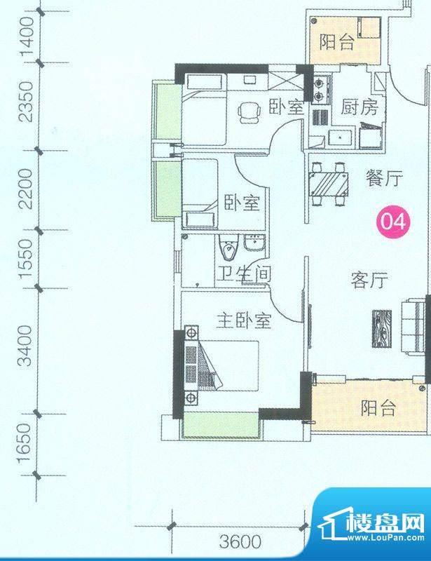 联诚·智博E区1座3座面积:79.42平米