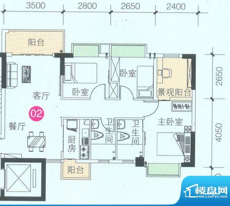 联诚·智博E区1座3座面积:89.82平米