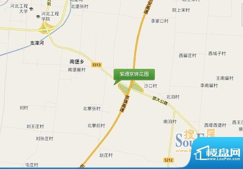 紫源京珠花园交通图