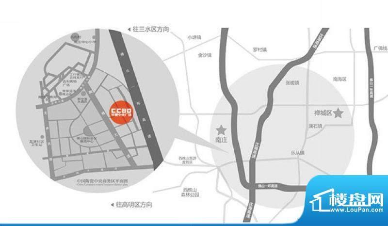 华夏中央公馆交通图