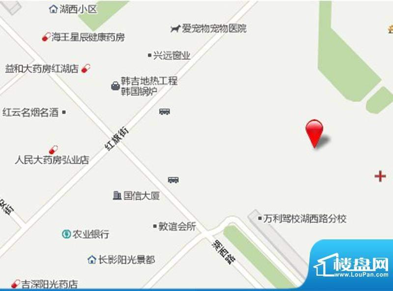 国信南湖公馆交通图