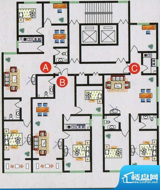 北海庄园7号楼标准层面积:108.10m平米