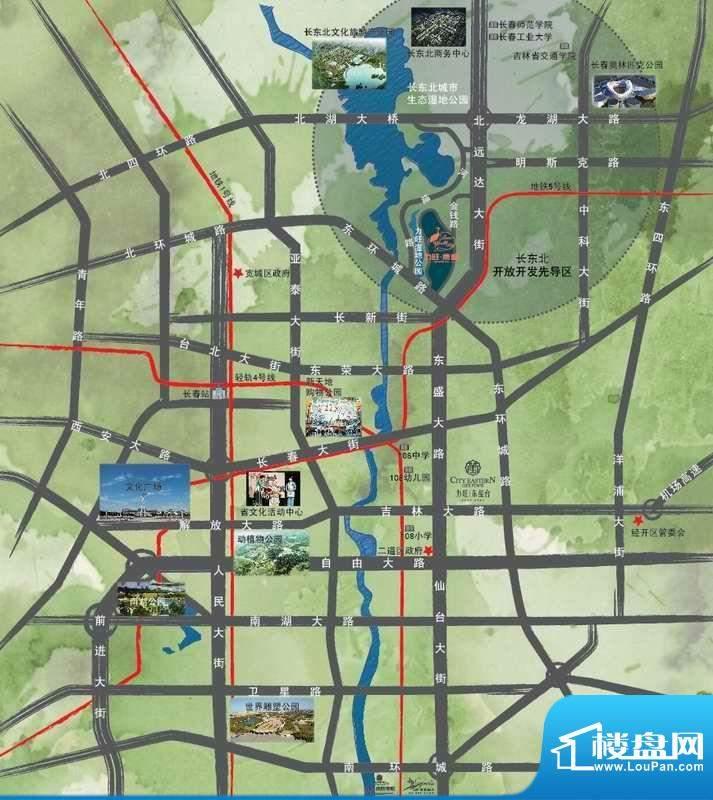 力旺康城交通图