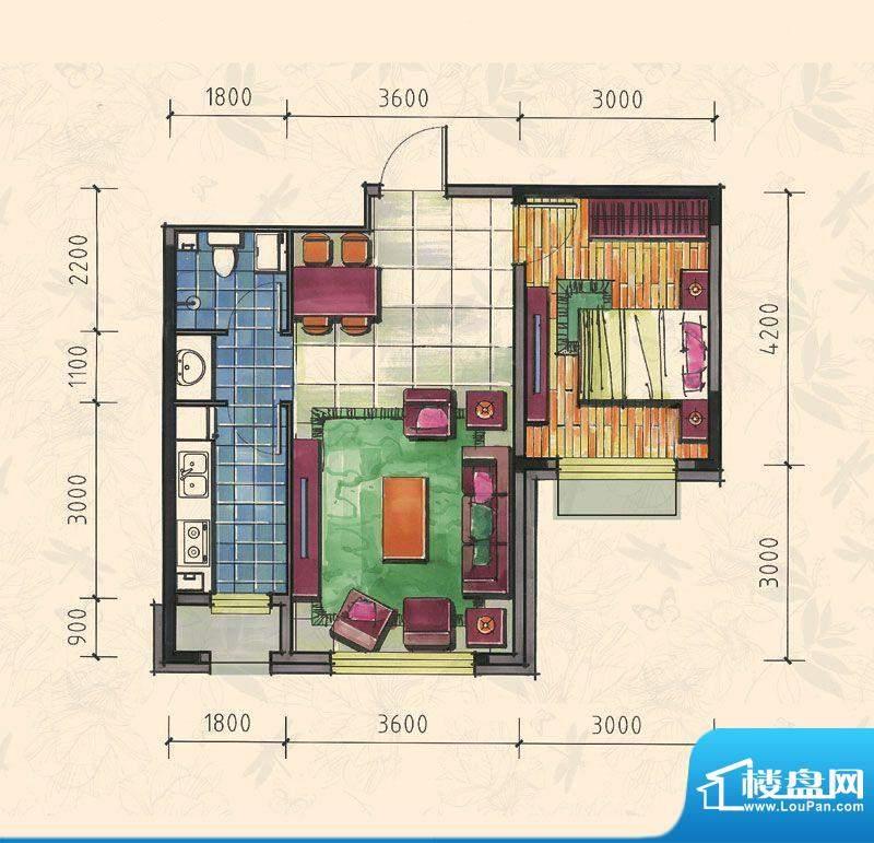 力旺康城60㎡-高层A面积:0.00平米