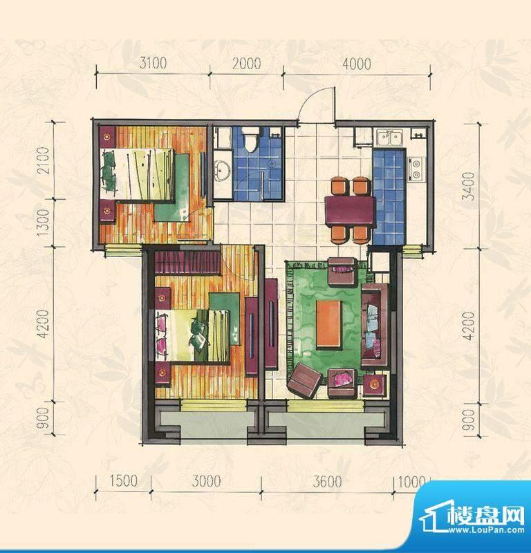 力旺康城74㎡-高层B面积:0.00平米