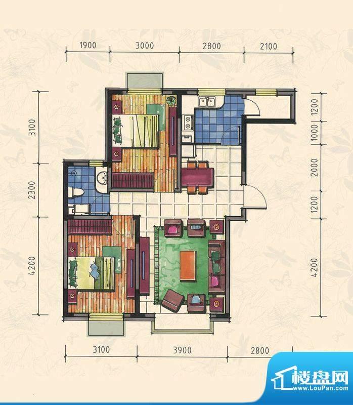 力旺康城85㎡-高层C面积:0.00平米