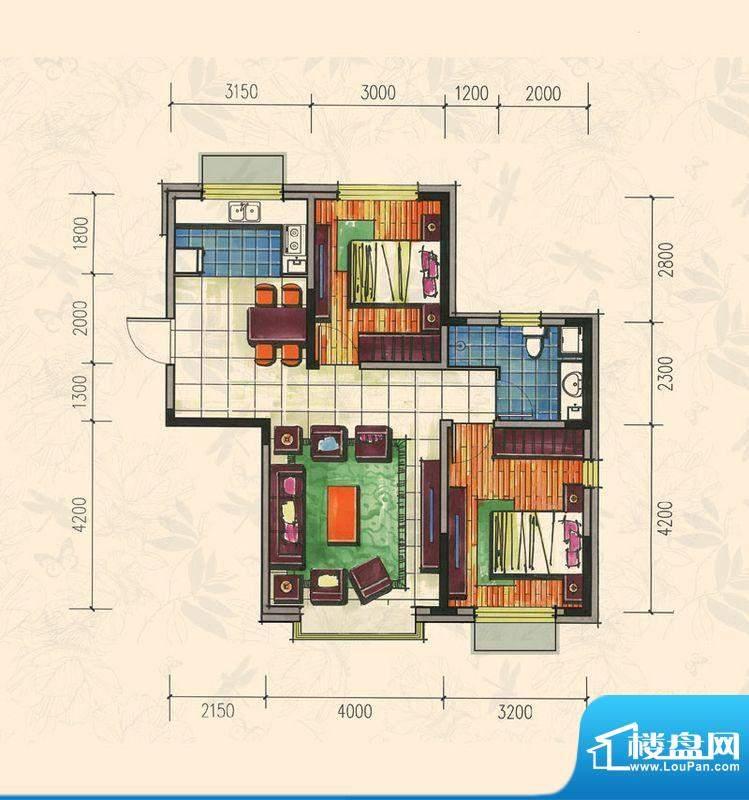 力旺康城87㎡-高层C面积:0.00平米