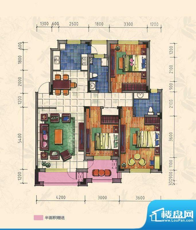 力旺康城126㎡-多层面积:0.00平米