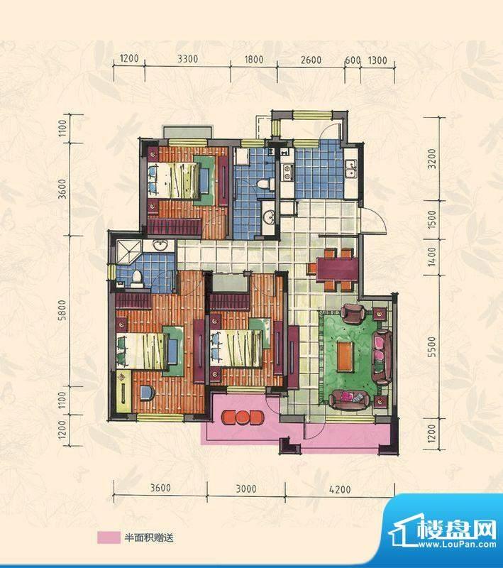 力旺康城126㎡-小高面积:0.00平米