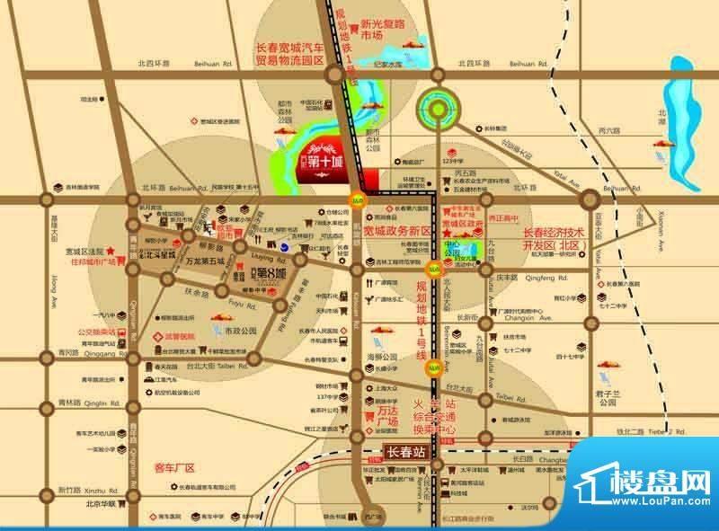 万龙第十城交通图