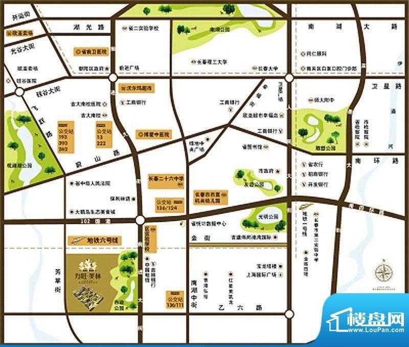 力旺美林交通图