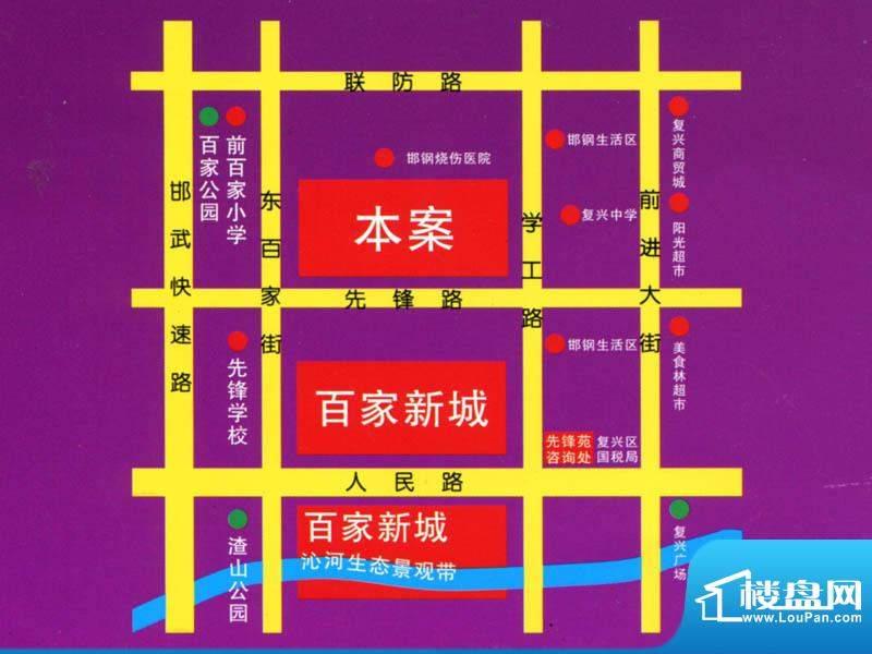 百家新城交通图