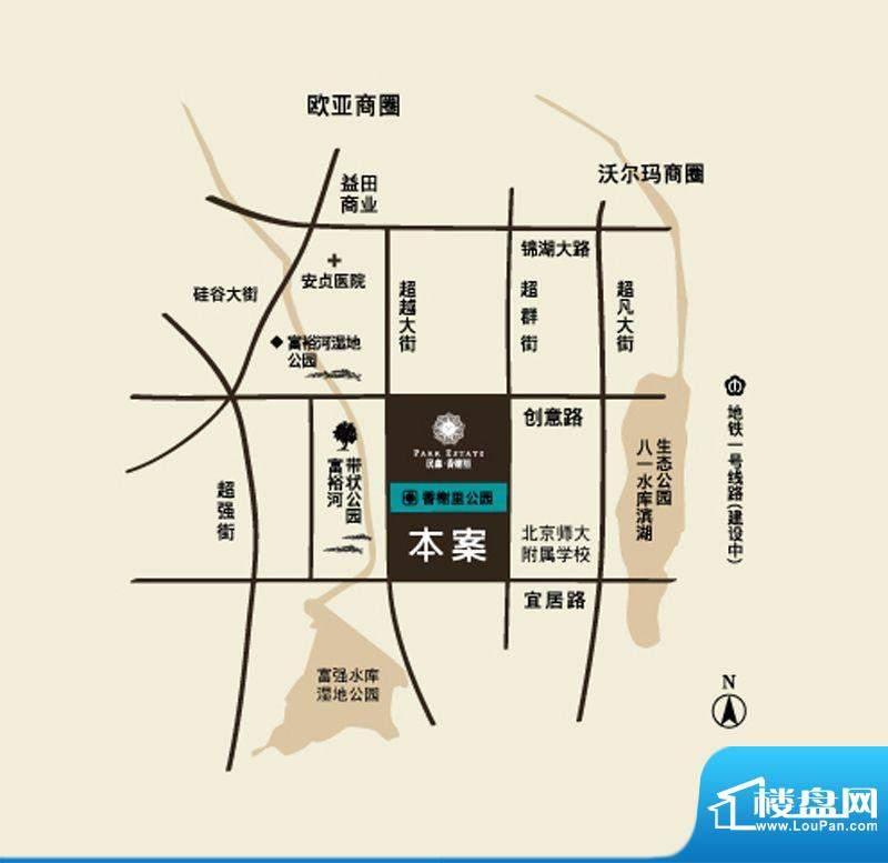 汉森香榭里交通图