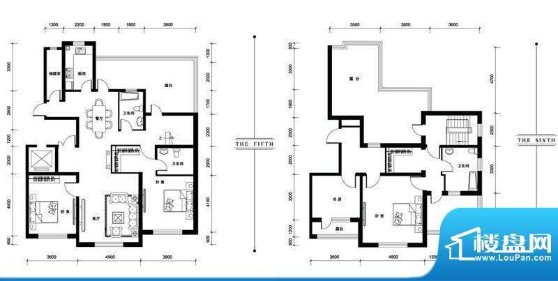 汉森香榭里洋房T户型面积:229.00平米