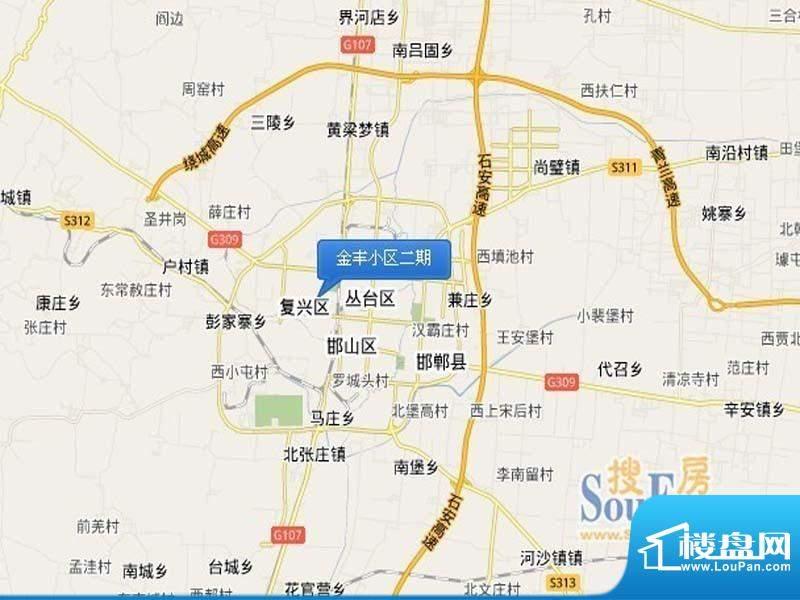 金丰小区二期交通图