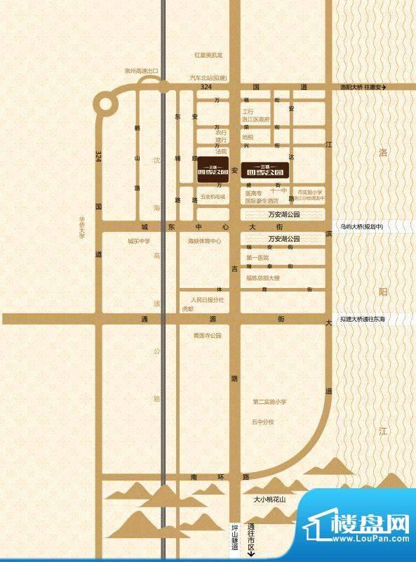 三盛四季公园交通图
