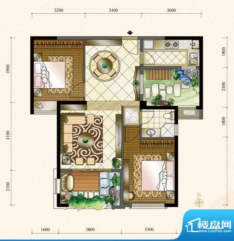 三盛四季公园15#楼0面积:90.00m平米