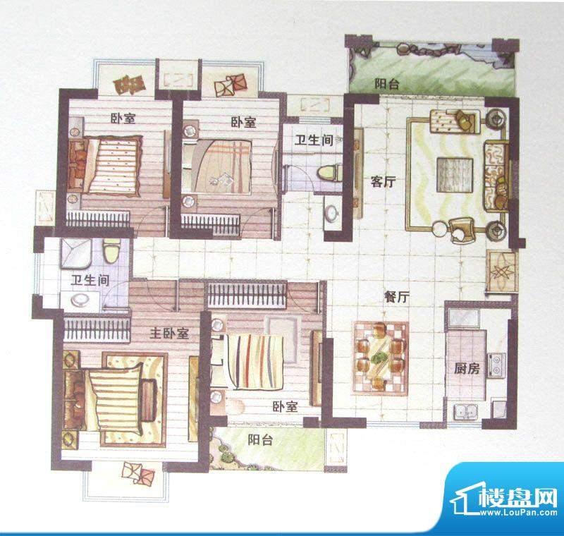 鼎盛骏景8#楼A户型 面积:0.00m平米