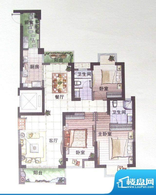 鼎盛骏景6#楼A户型 面积:0.00m平米