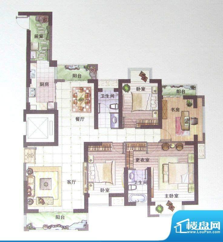 鼎盛骏景2#楼E户型 面积:0.00m平米
