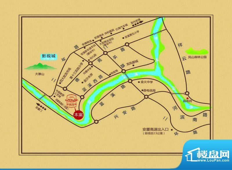 金域龙湾交通图