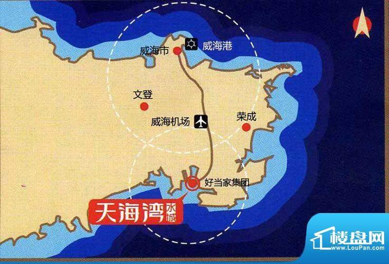 天海湾水城交通图