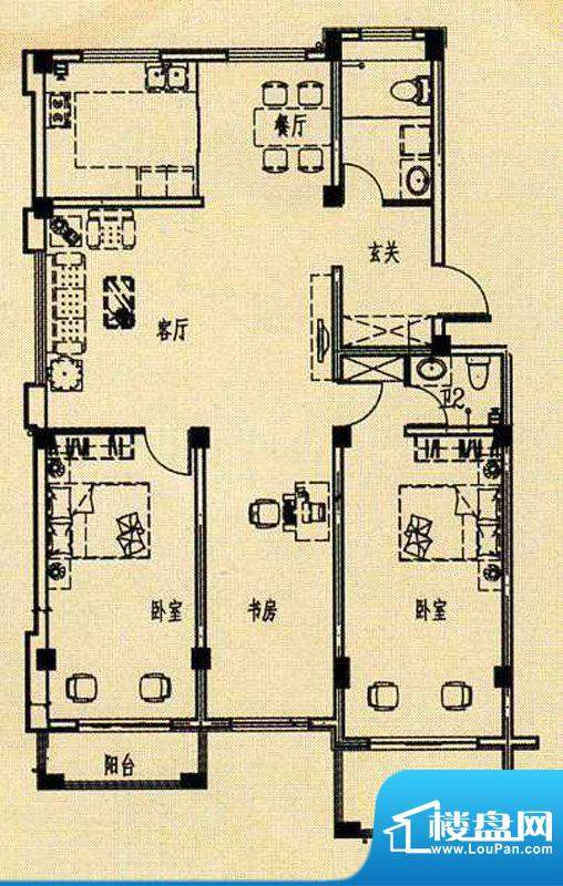 天海湾水城一期f1户面积:100.00m平米