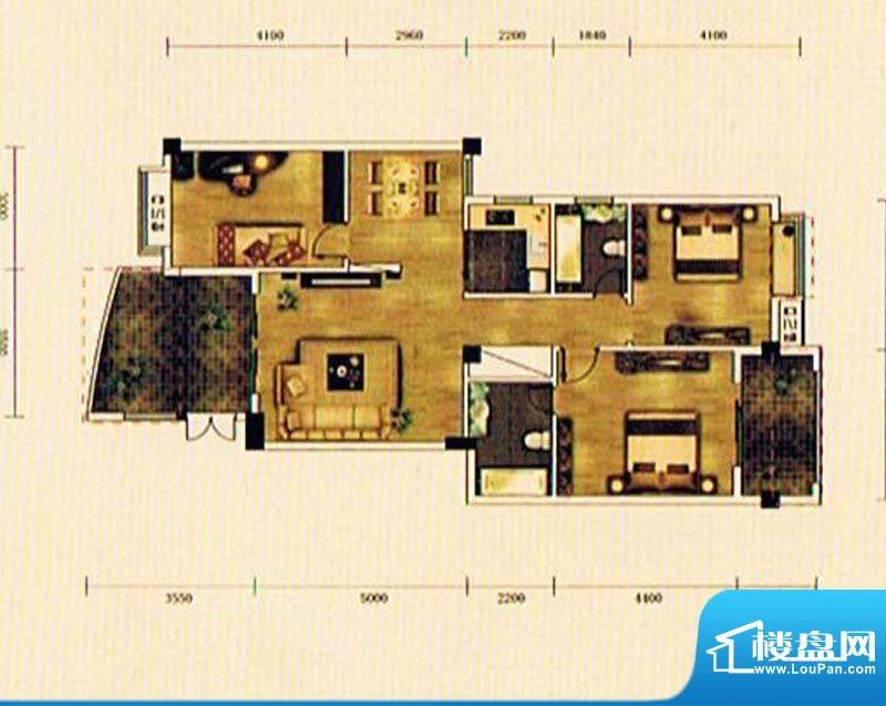 湖景帝苑4#D2单元 3面积:117.92m平米