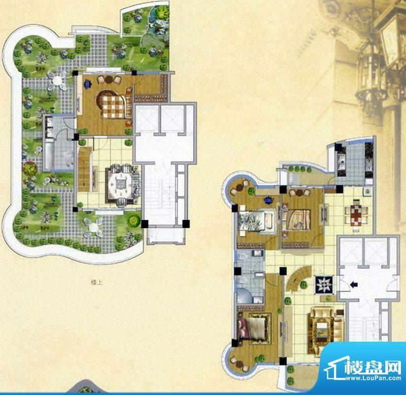 嘉琳广场楼中楼户型面积:150.00m平米