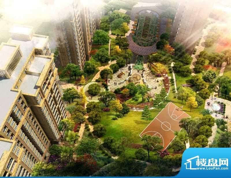 惠港新城中庭花园效果图