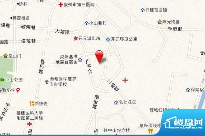 米仓小区区位图