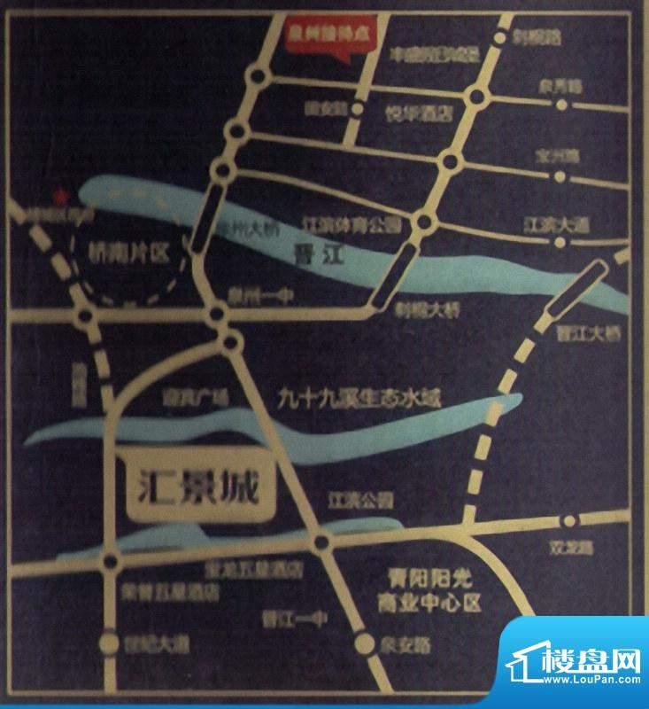 卓辉汇景城交通图