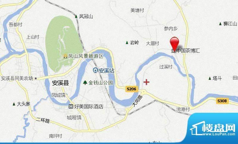 中国茶博汇交通图