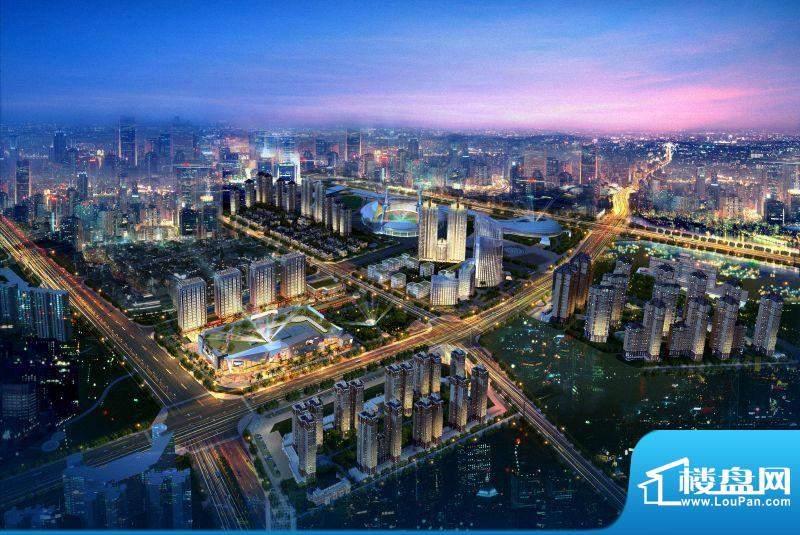 中骏世界城项目鸟瞰图