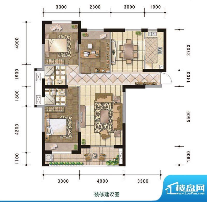 中超水木春天3#楼A户面积:113.00m平米