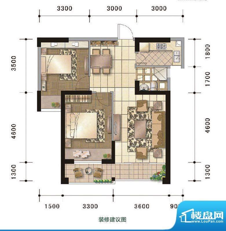 中超水木春天3#楼B户面积:72.00m平米
