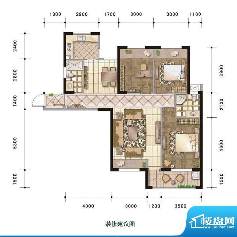 中超水木春天5#楼A户面积:117.00m平米