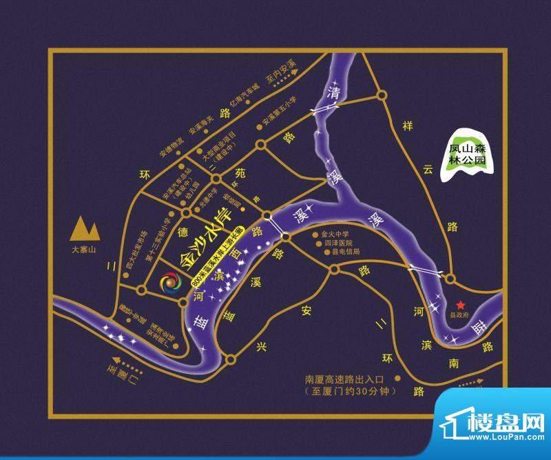 金沙水岸交通图