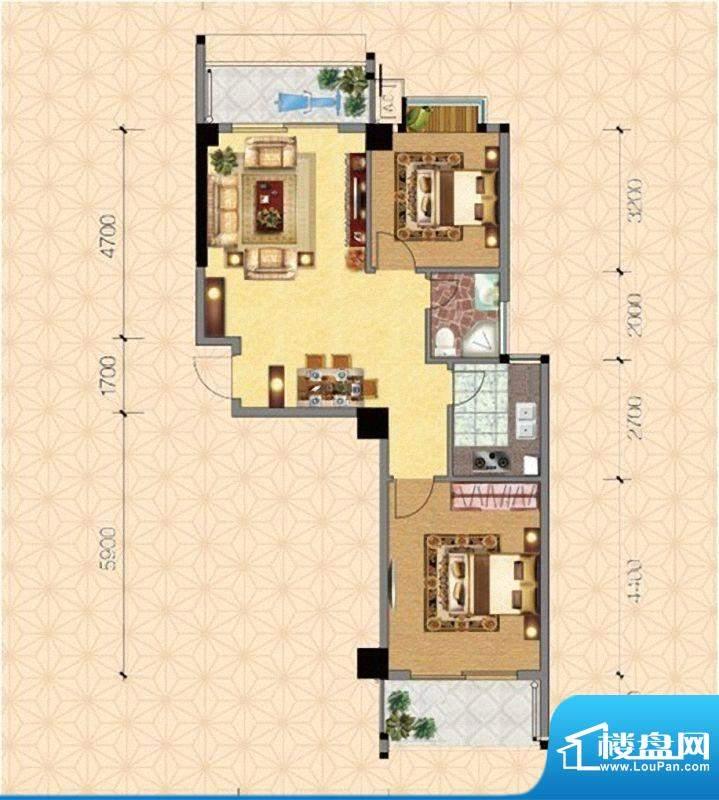 圣弗兰小镇6#楼温馨面积:88.00m平米