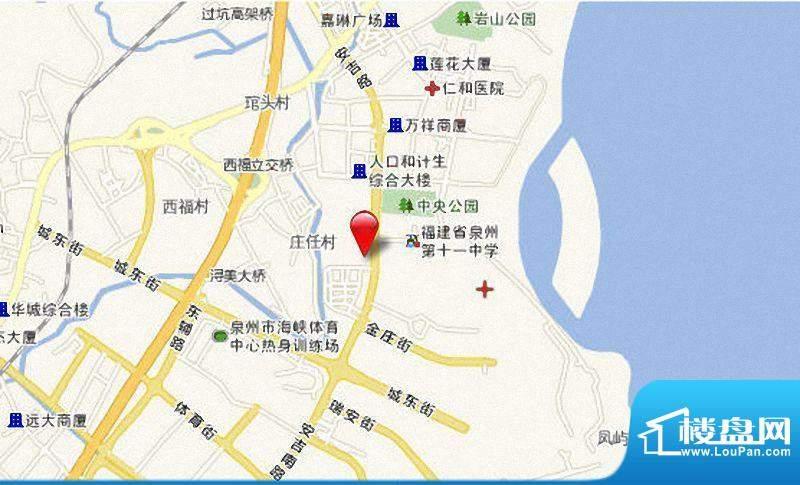 洛江中心商城项目区位图