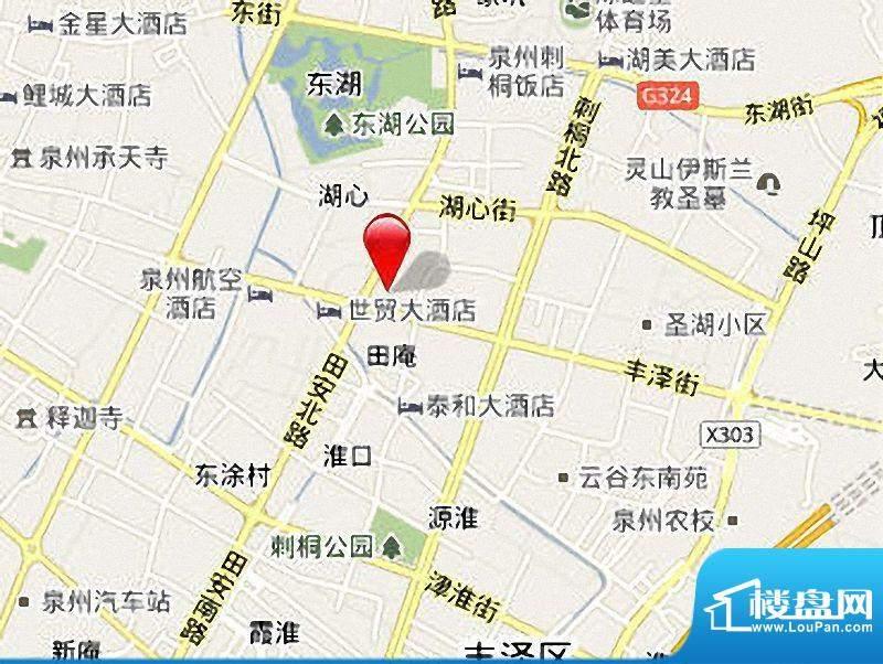 南益广场区位图