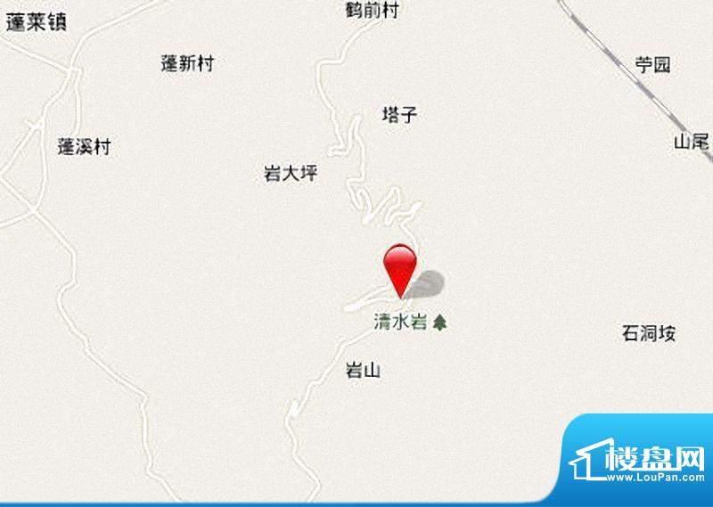 清水岩温泉度假山庄区位图