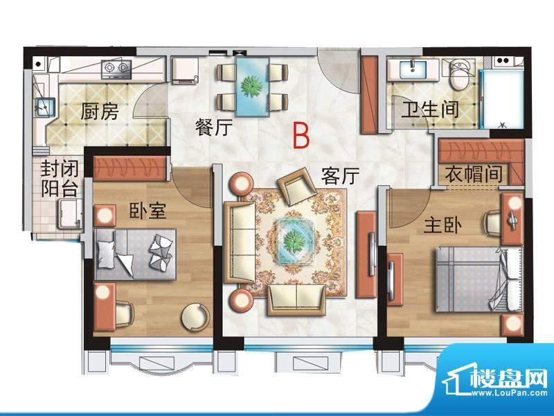 碧桂园凤凰城J84-1户面积:98.00平米