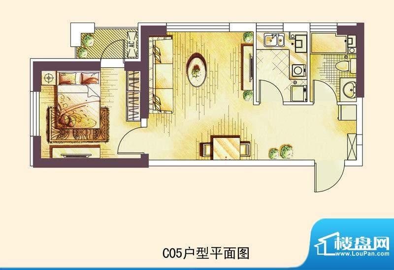 中海凯旋门一期高层面积:60.00平米