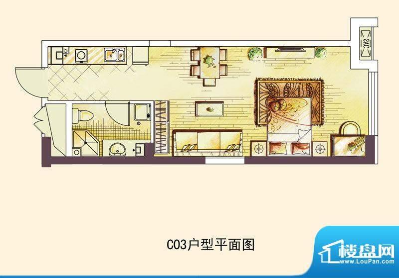 中海凯旋门一期高层面积:50.00平米