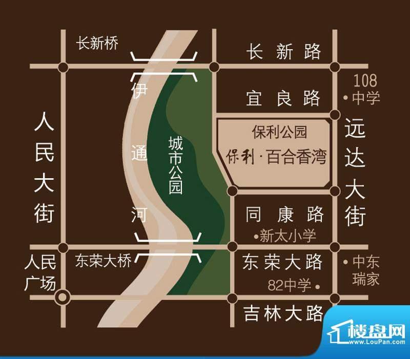 保利百合香湾交通图