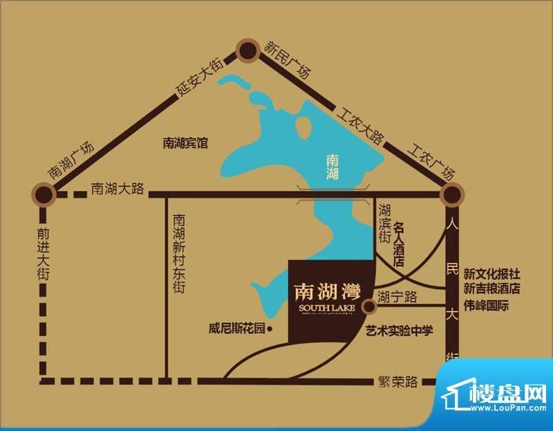 南湖湾交通图