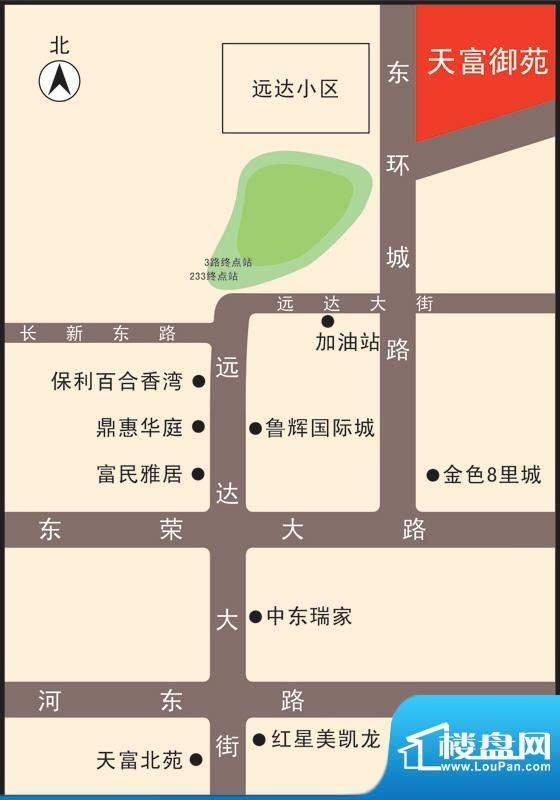 天富御苑交通图