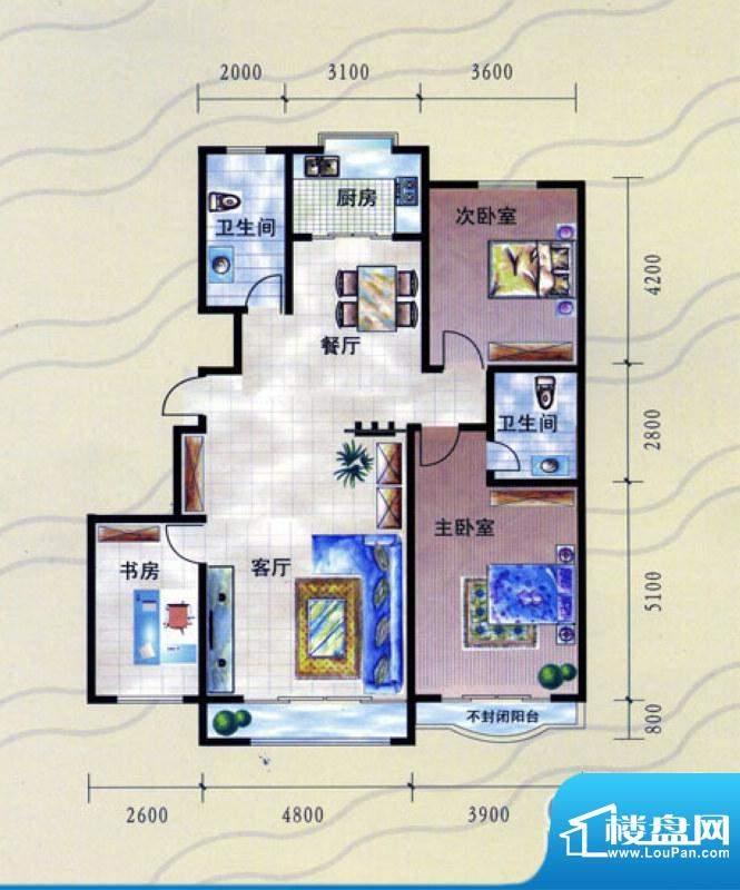 九龙明珠N户型:小高面积:133.00m平米